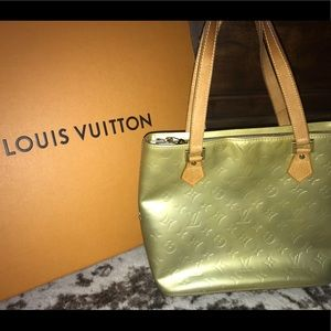 Louis Vuitton Vernis Houston leather gold tote bag